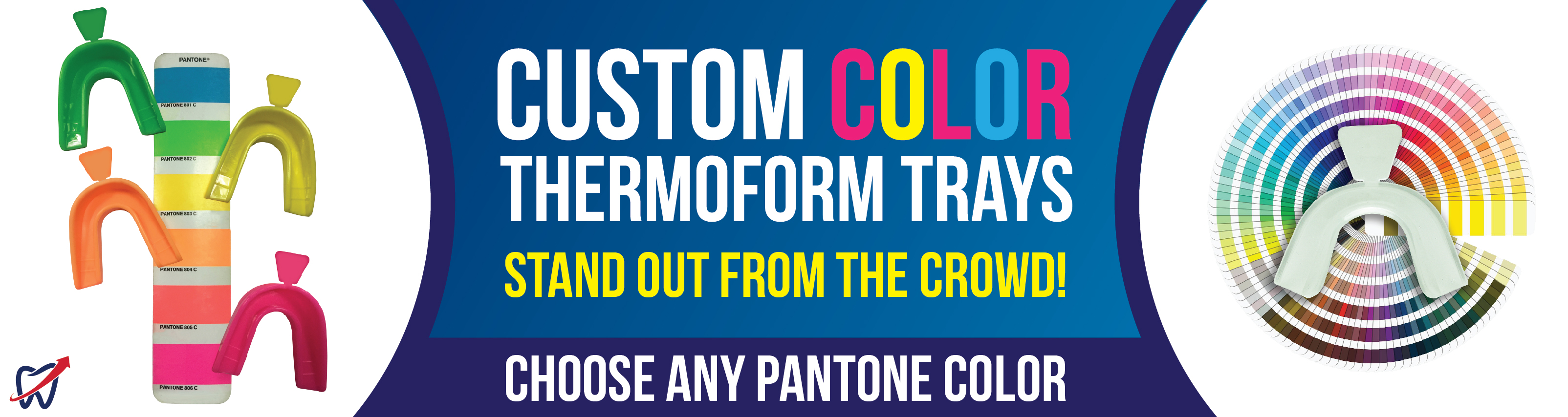 Colored Trays USA Banner