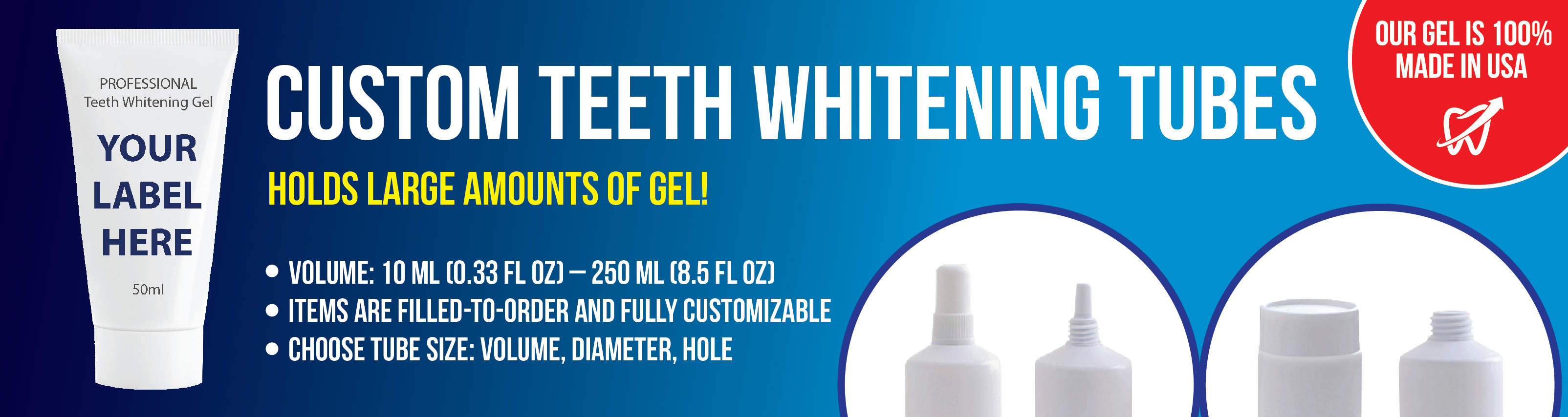 Teeth Whitening Tubes Main Banner