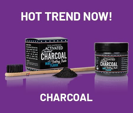 hot trends banner: charcoal products