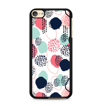 Abstract Dots In Blush Coral Mint And Navy Pattern iPod Touch 6 Case