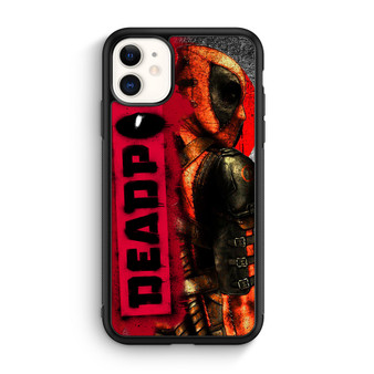 Deadpool Logo Art Poster iPhone 11/11 Pro/11 Pro Max Case