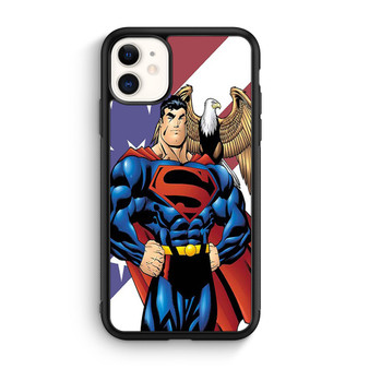 Superman With American Flag iPhone 11/11 Pro/11 Pro Max Case