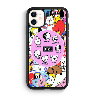 BTS KPOP Member Stickers iPhone 11/11 Pro/11 Pro Max Case