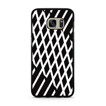 Abstract Line Black And White Samsung Galaxy S7/S7 Edge Case