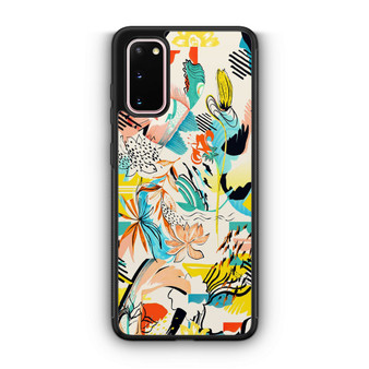 Abstract Floral Pattern Samsung Galaxy S20/S20 Plus/S20 Ultra Case