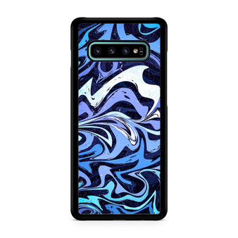Abstract Seamless Pattern Marble Blue Galaxy S10/5G/S10 Plus/S10E/lite Case