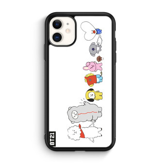 BTS Bt21 Character White iPhone 11/11 Pro/11 Pro Max Case