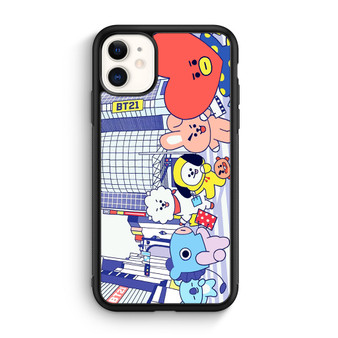 BTS Bt21 In City Town iPhone 11/11 Pro/11 Pro Max Case