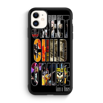 Guns N Roses Sweet Child Mine Poster iPhone 11/11 Pro/11 Pro Max Case