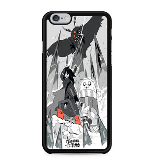 Adventure Time Fan Art Black And White iPhone 6/6 Plus Case