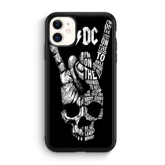 ACDC Skull Art iPhone 11/11 Pro/11 Pro Max Case