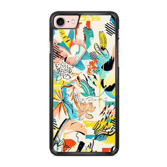 Abstract Floral Pattern iPhone 7/ 7 Plus Case