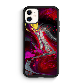 Abstract Red Color Painting iPhone 11/11 Pro/11 Pro Max Case