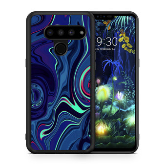 Abstract Color Paint Blue LG V50 thinq Case