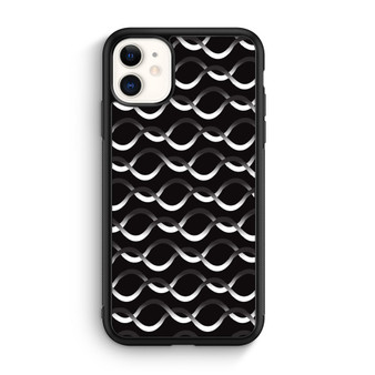 Infinity Line Pattern Black And White 2 iPhone 11/11 Pro/11 Pro Max Case