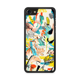Abstract Floral Pattern iPhone 8/ 8 Plus Case