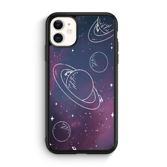 Space Drawing Sketch iPhone 11/11 Pro/11 Pro Max Case