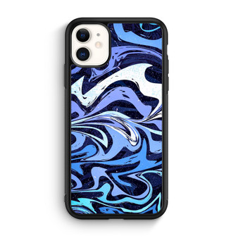 Abstract Seamless Pattern Marble Blue iPhone 11/11 Pro/11 Pro Max Case
