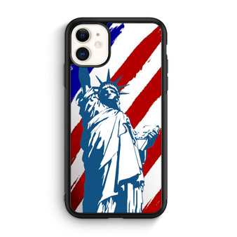 Statue Of Liberty And American Flag Art iPhone 11/11 Pro/11 Pro Max Case