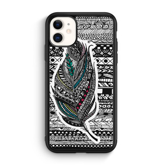 Feather Aztec Pattern iPhone 11/11 Pro/11 Pro Max Case