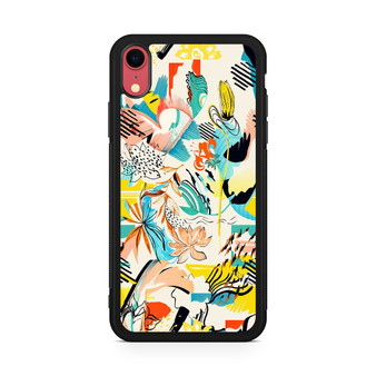Abstract Floral Pattern iPhone XR Case