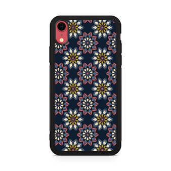 Abstract Flowers Patterns iPhone XR Case