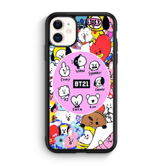 BTS BT21 Sticker Character iPhone 11/11 Pro/11 Pro Max Case
