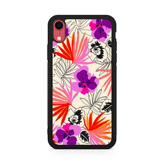 Abstract Leaf Pattern iPhone XR Case
