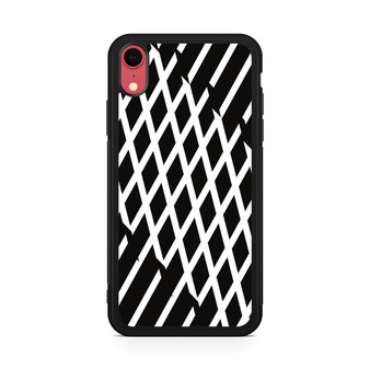 Abstract Line Black And White iPhone XR Case