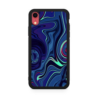 Abstract Color Paint Blue iPhone XR Case