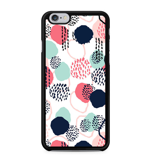 Abstract Dots In Blush Coral Mint And Navy Pattern iPhone 6/6 Plus Case