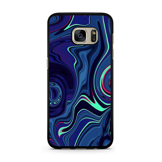 Abstract Color Paint Blue Samsung Galaxy S7/S7 Edge Case