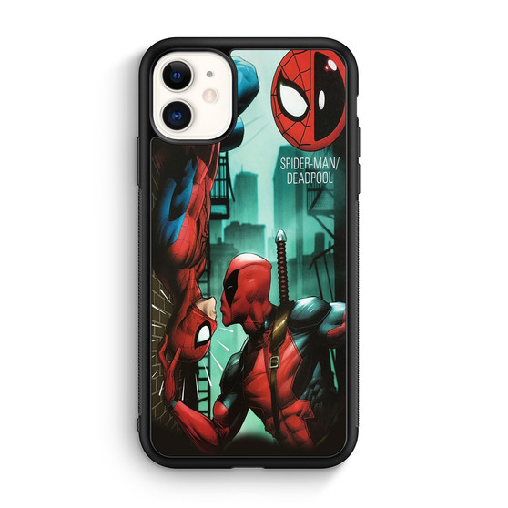 Deadpool And Spiderman Comic iPhone 11/11 Pro/11 Pro Max Case Maydistore