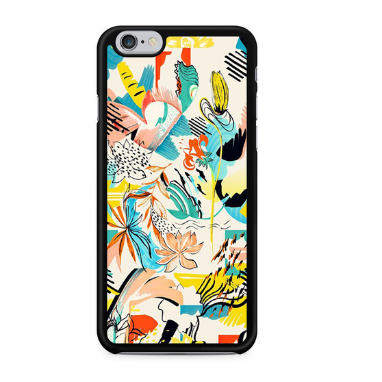 Abstract Floral Pattern iPhone 6/6 Plus Case