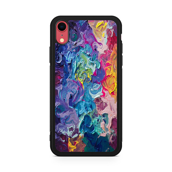 Abstract Color Painting iPhone XR Case