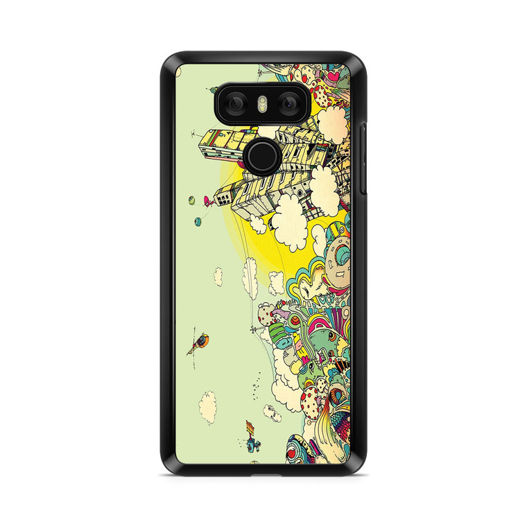 Colorful City Drawing Art LG G6 Case