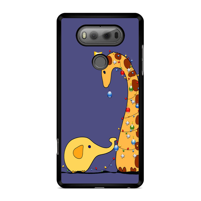 A Giraffe And An Elephant Decorating For Christmas LG V20 Case