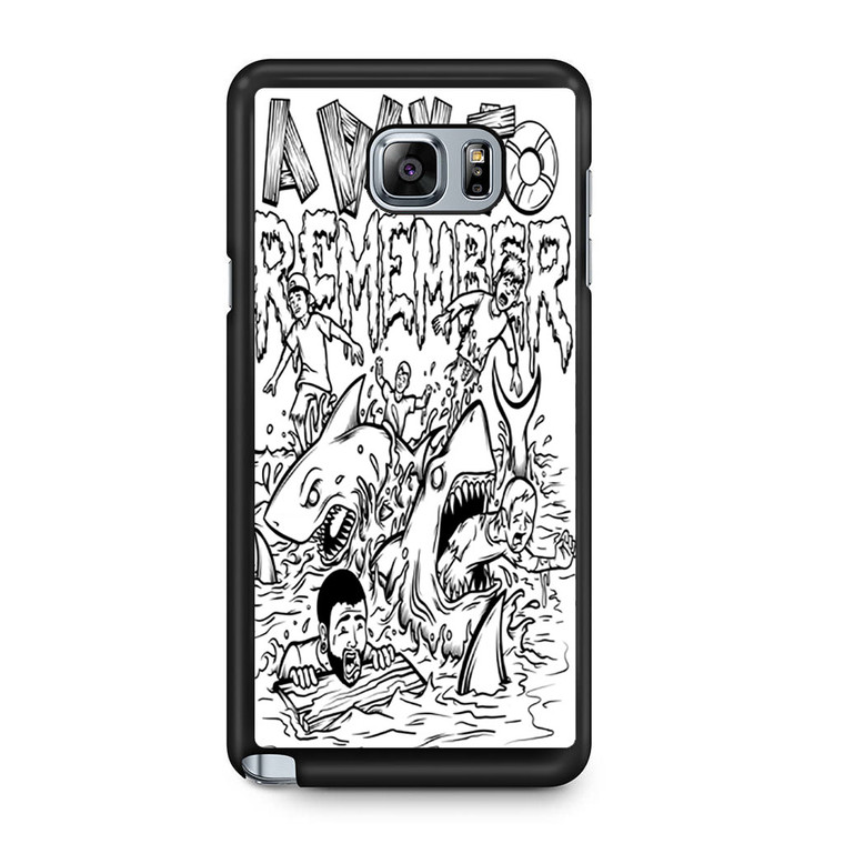 A Day To Remember Shark Week Samsung Galaxy Note 5 Case
