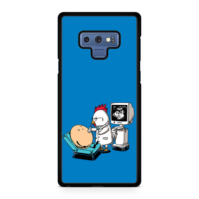 Funny Eggs And Chicken Character Illustration Samsung Galaxy Note 9 Case
