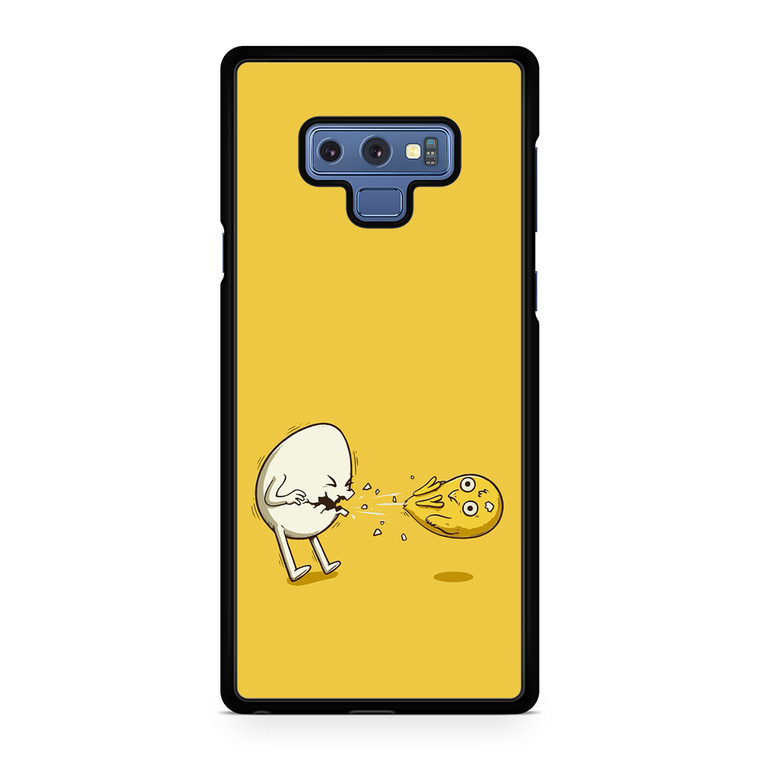 Funny Eggs Character Illustration Samsung Galaxy Note 9 Case