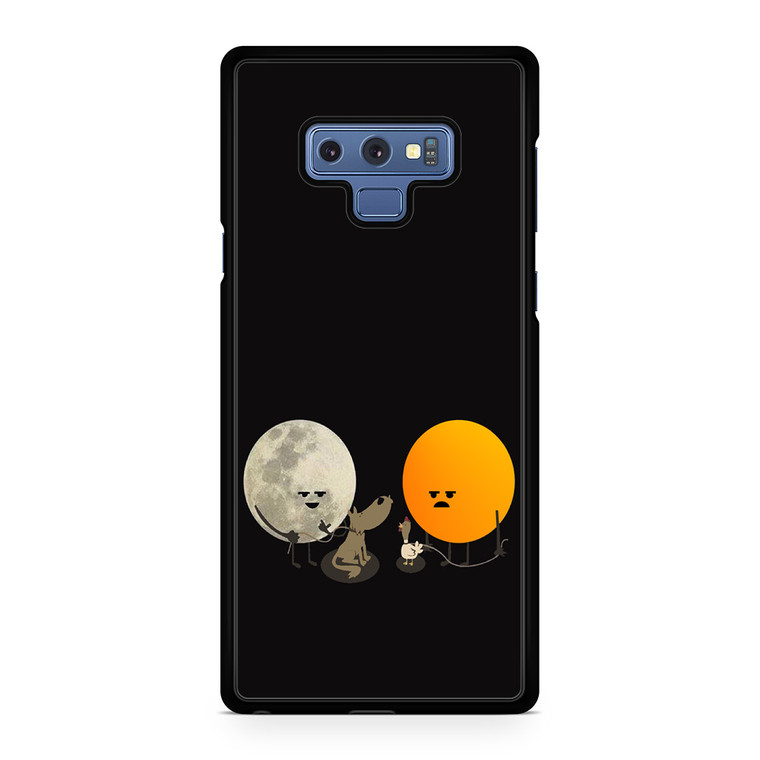 Funny Sun And Moon Character Illustration Samsung Galaxy Note 9 Case