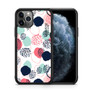 Abstract Dots In Blush Coral Mint And Navy Pattern iPhone 11/11 Pro/11 Pro Max Case