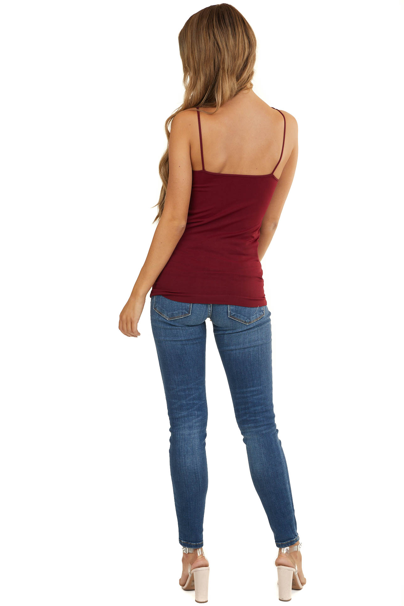 Burgundy Criss Cross Strappy Camisole