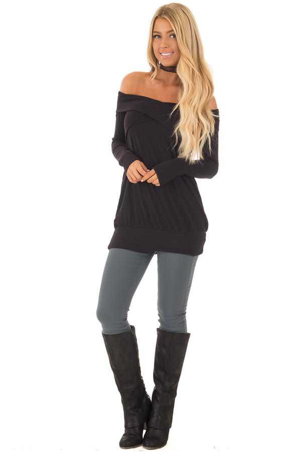 Charcoal Solid Colored Skinny Jeans front full body