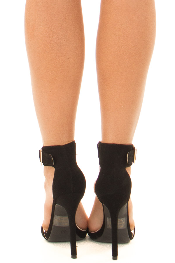 a8aeca7772 2019 Lime Lush Boutique. Previous. Black Faux Suede Stiletto Heels with Gold  Buckle back view