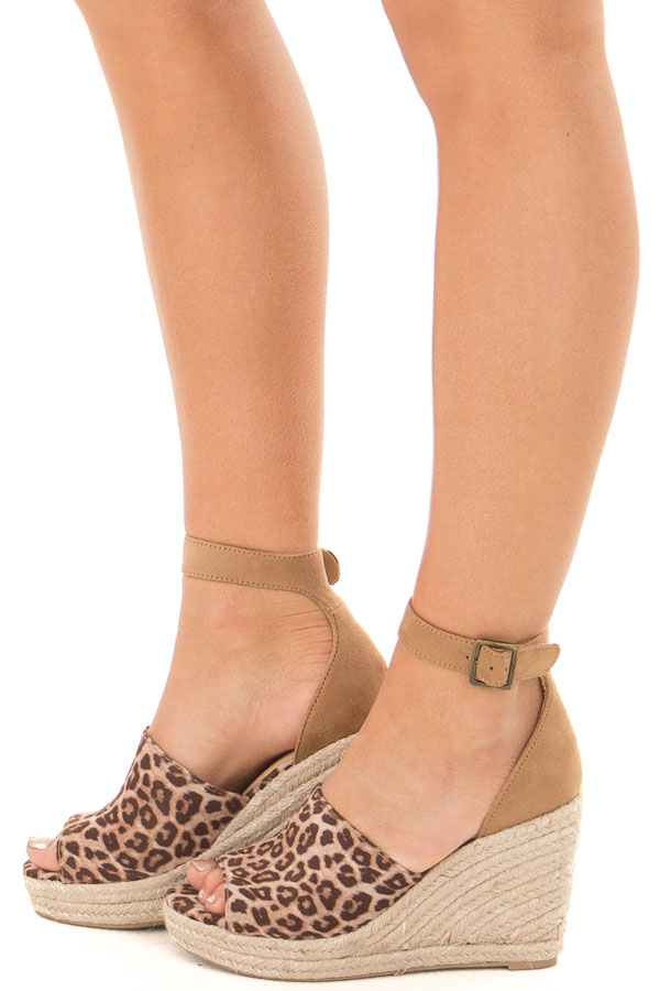 71870c2bd72 Cheetah Print and Tan Open Toe Wedge - Lime Lush Boutique