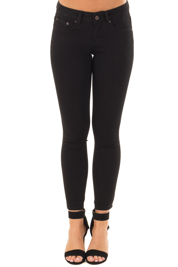 72ae5e5fccf0 Black Cropped Ankle Skinny Jeans - Lime Lush Boutique