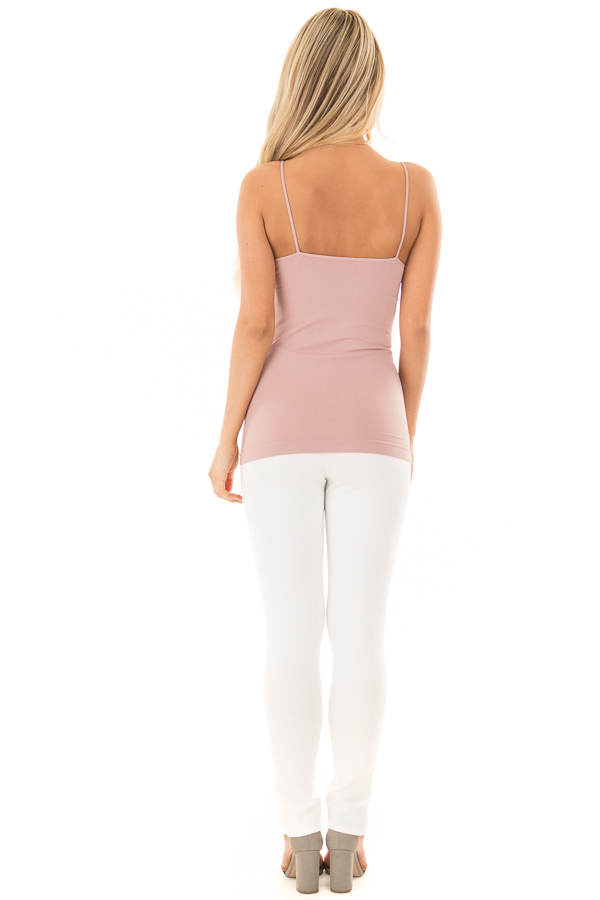 Dusty Rose Criss Cross Strappy Camisole back full body