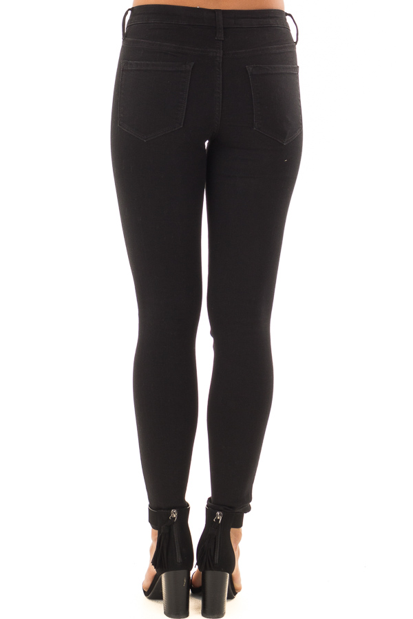 Black Ivy Mid Rise Ankle Skinny Jeans back view