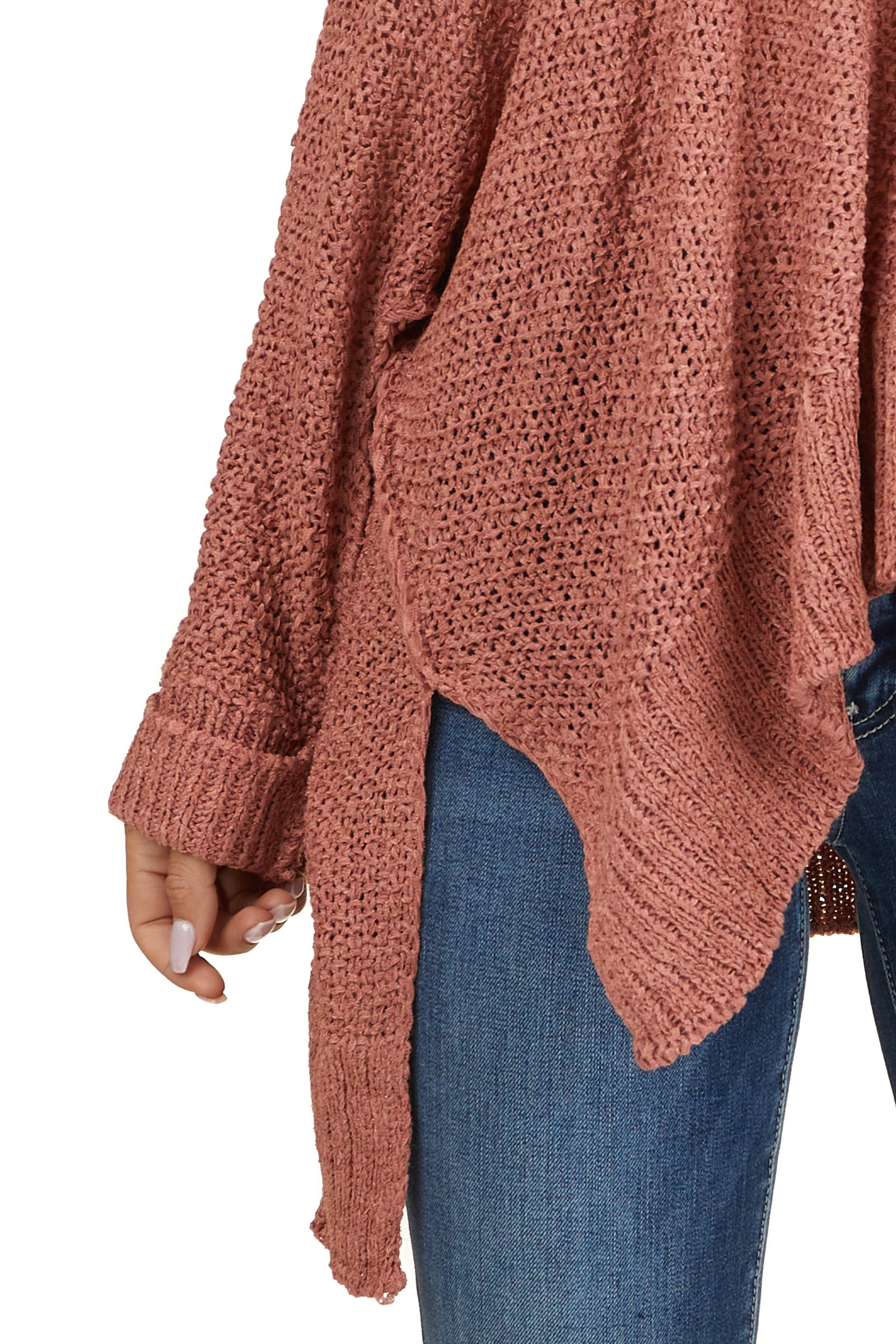 Ginger Cable Knit Sweater with Dolman Sleeves